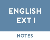 English Extension 1 Study Notes
